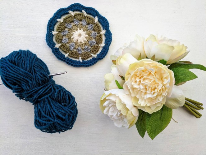 flowers and crochet